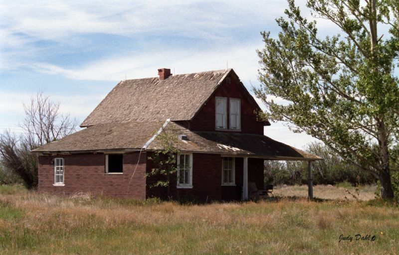 Curle house east of Granum, AB 1988.